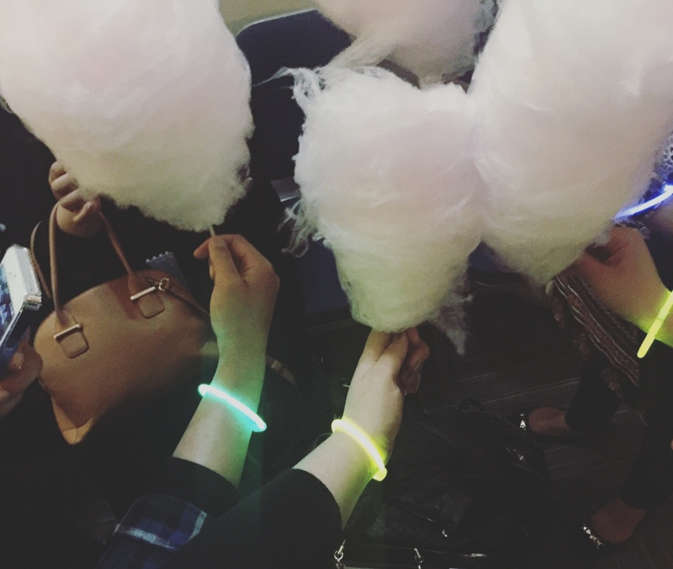 me, my friends, and candyfloss